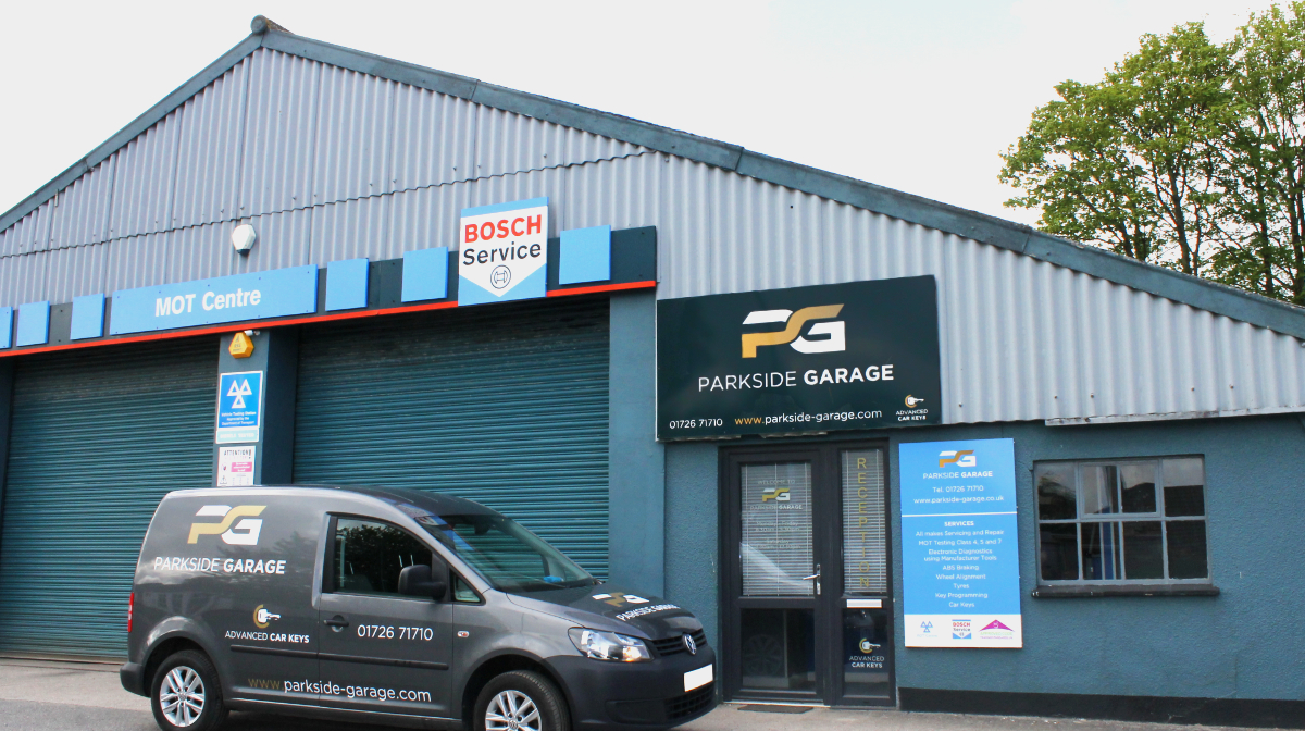 Front of Parkside Garage - Servicing and Key Programming St Austell