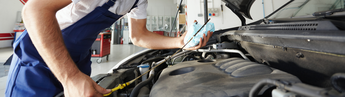 Mechanic doing a service on a vehicle - Car Servicing St Austell